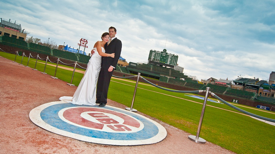 Wrigley Field - Home of the Cubs - Wedding photography
